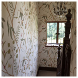 Our Work - Lewis and Wood - Adams Eden silk wallpaper