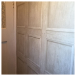 Our Work - Panelling Wallpaper in Cloakroom