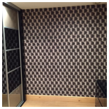 Our Work - Wallpaper Padded Wall